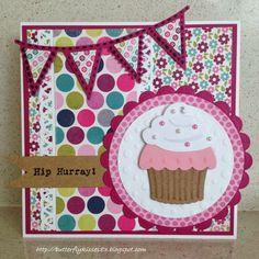 card cupcake muffin cake banner Marianne design die set - Handmade By Rimmie: Hip Hurray!