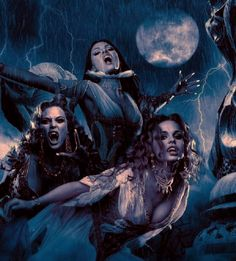 Sorrow is their master, cackling with laughter... #BridesOfTheDracula from #VanHelsing