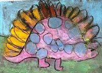 Dazzling Dinosaurs Art Project