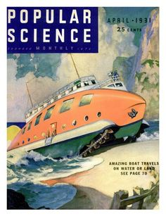 Front Cover of Popular Science Magazine: April 1, 1930 Posters - AllPosters.co.uk