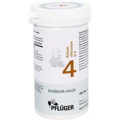 BIOCHEMIE Pflueger 4 Kalium chloratum D 6 Tabletten:   Packungsinhalt: 400 St Tabletten PZN: 06318915 Hersteller: A.Pflüger GmbH & Co. KG…