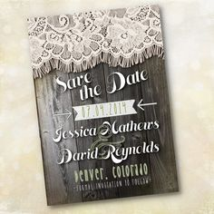 Wedding Invitation or Save the Date  Vintage by SproullieDesigns, $20.00