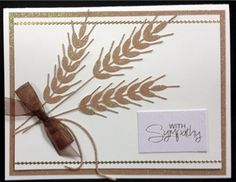 Wheat Metal Die Cut by Impression Obsession