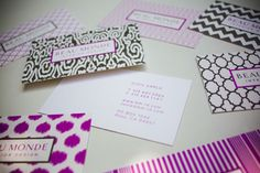 Beautiful patterned business cards...