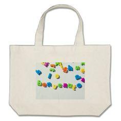 Fridge magnet letters spell benvenuto welcome in I Large Tote Bag - accessories accessory gift idea stylish unique custom