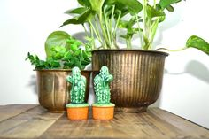 Vintage Cactus Salt & Pepper Shakers Cactus by JudysJunktion