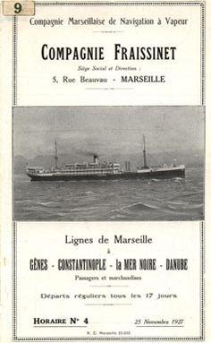 Compagnie de Navigation Fraissinet - Comapgnie Fraissinet - Compagnie Marseillaise de Navigation a Vapeur