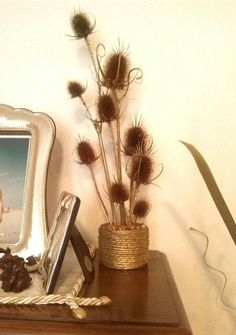 Buenas Ideas con yoyo: reciclando lata con flores secas