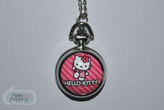 Hello Kitty Reloj con Cadena Rayas Rosas $229.00