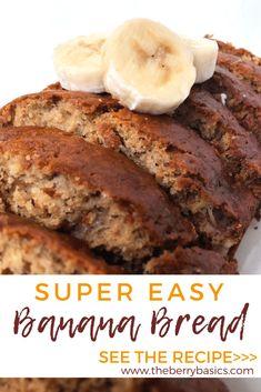 Easy Bread Recipes, Banana Bread Recipes, Banana Nut Bread Recipe 3 Bananas, Banana Nut Muffins, Banana Bread Recipe Without Baking Soda, How To Make Banana Bread Recipe, Bananna Nut Bread, Overripe Banana Recipes, Crockpot Banana Bread