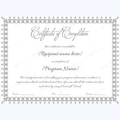 blank completion template completion completionwordtemplate completiontemplate completioncertificate certificatetemplate completionword