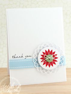 Love this CAS card from Debby Hughes.