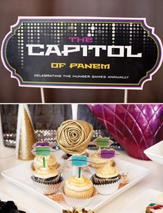The Hunger Games: Capitol Inspired Dessert Table