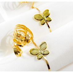 Perle papillon métallisé or brillant 3 cm les 12