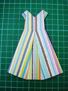 origami dress for cards