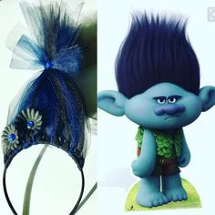 Inspired by Branch from the Trolls movie. Order a set of characters for a discount! These are custom handcrafted and made to order, please message me for requests. Also available in my etsy shop