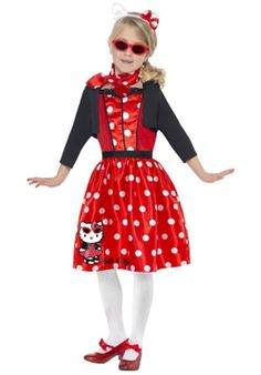 Hello Kitty Retro 50's Cherry Child Costume - General Kids Costumes at Escapade™ UK - Escapade Fancy Dress on Twitter: @Escapade_UK
