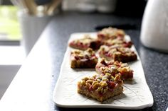 strawberry rhubarb crisp bars   Flickr - Photo Sharing!