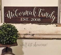 Wood Family Name sign (as shown stain white letters) ***White color used is NOT a pure stark white its more of a creamy white At check out