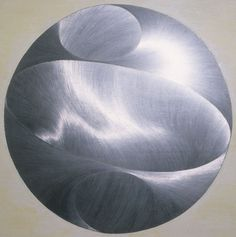 "Droplet, Graphite and milk paint on board, 40"" x 40"", 2001, from the series ""Silver Lining."" © Sky Pape. All rights reserved."