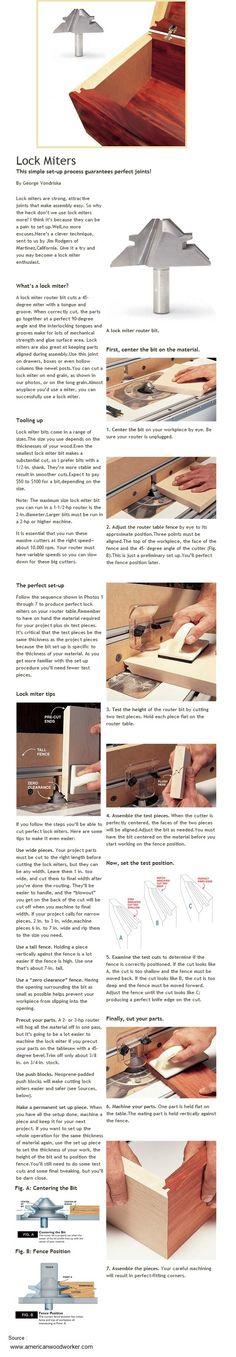 Lock Miters   WoodworkerZ.com