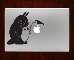 """totoro sheltering apple Decal Sticker Vinyl For Macbook Pro/Air 13"""" Inch 15"""" Inch 17"""" Inch Decals Laptop Cover #totorodecal #totorostickers"""