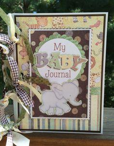 Baby Scrapbook Mini Album Kit or Premade Journal by ArtsyAlbums, $39.99