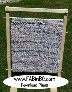 Versatile rag rug weaving loom, download plans.  (not just for rag rugs!!) www.fabinbc.com