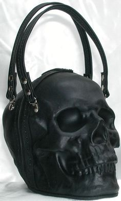 Leather Skull Purse Clutch in Black by GriffinLeather on Etsy #GothicFashion