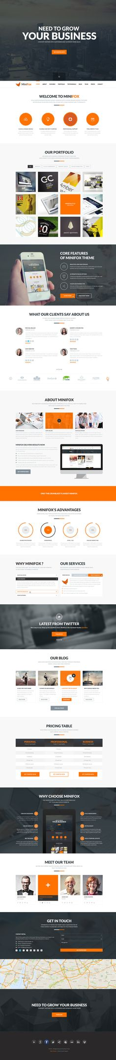 MiniFox   One Page Multi-Purpose PSD Template. If you like UX, design, or design thinking, check out theuxblog.com