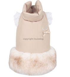 Pet Fur Coat by Louis Dog (Black or Beige)