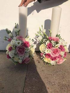 Pillar Candles, Floral Wreath, Wreaths, Table Decorations, Home Decor, Brides, Floral Crown, Decoration Home, Door Wreaths