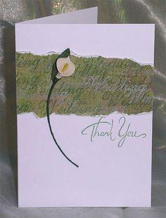 199. Calla lily Wedding thank you card. #handmade #weddings #lilies