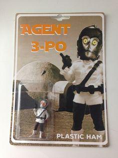 Agent 3-PO Star Wars Bootleg Action Figure by PlasticHam on Etsy https://www.etsy.com/listing/226990285/agent-3-po-star-wars-bootleg-action
