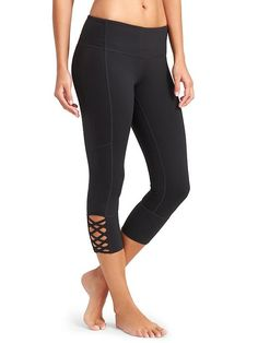 Mind Over Mat Capri - Add a twist to your practice with a strappy lattice calf design and our go-to, wicking Pilayo® fabric.