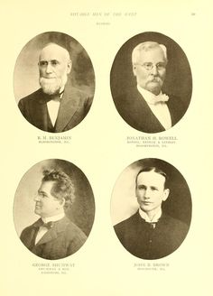 Notable men of the West, including members of t...