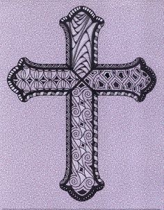 Open cross~zentangle