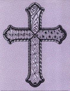 open cross zentangle by art4u2c, via Flickr