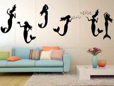 MA2286 - Mermaids Vinyl Wall Decal Sticker Graphic