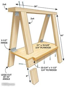 Best representation descriptions: Wooden Folding Sawhorse Plans Related searches: Gun Cabinet Plans PDF,Woodworking Plans Online,Toy Making. Essential Woodworking Tools, Easy Woodworking Projects, Woodworking Bench, Diy Wood Projects, Woodworking Shop, Home Projects, Wood Crafts, Woodworking Equipment, Woodworking Basics