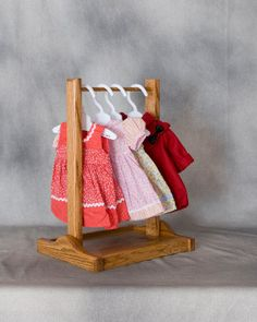American Girl Doll Clothes Rack Oak with by HardwoodFurniture, $28.00