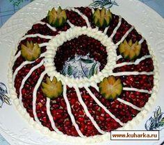 Салат мимоза с жареным луком