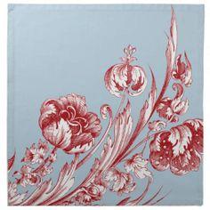 Vintage Fashion, Vintage Style, Vintage Flowers, Line Art, Flower Art, Vintage Shops, Rooster, Red And White, Blue