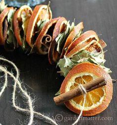 ❤ Füzér szárított narancs szeletekkel - egyszerű őszi dekoráció ❤Mindy -  kreatív ötletek és dekorációk minden napra