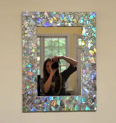 Как украсить старое зеркало своими руками фото