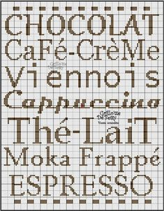 cuisine - kitchen - mots - point de croix-cross stitch - broderie-embroidery- Blog : http://broderiemimie44.canalblog.com/