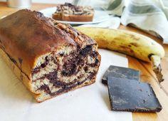 Banana bread (cake à la banane) marbré Cake Sans Gluten, Biscuits, French Toast, Sweet Treats, Healthy Recipes, Healthy Food, Nutrition, Breakfast, Dessert Healthy