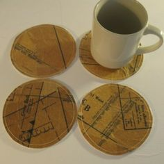 Coasters - Sewing Pattern Tissue #crafts #sewing