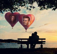 Fotoefectos de Amor dobles para insertar 2 imágenes totalmente gratis.