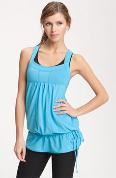 Zella Back Cutout Layering Tank $38 - how fab would it be to have stylish gym clothes??